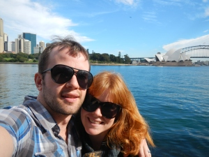 Craig and I on our way along the Opera House to Botanic Gardens Walkway.