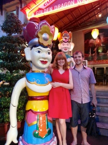 A life size water puppet and us