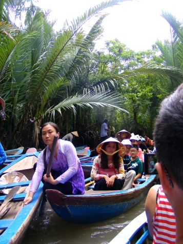 Crazily crowded Mekong Canals