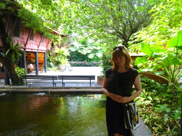 Standing near one of the Ponds at Jim Thomson's house