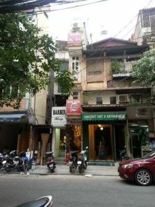 Hanoi's old quarter and the smallest store.