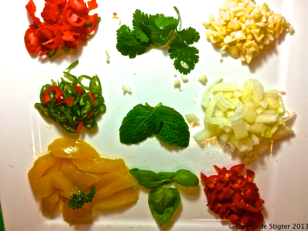 The key ingredients of the sauce