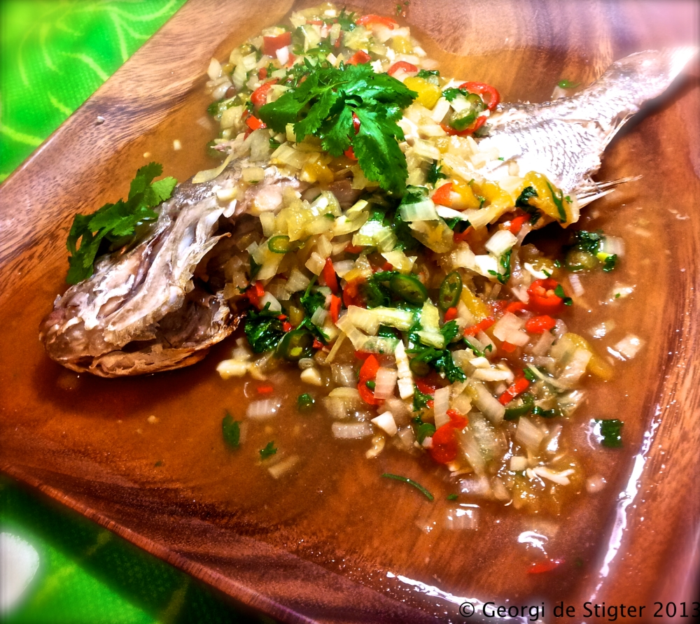 Grilled Red Snapper with Chilli and Mango Sauce