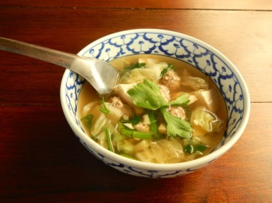 Pork and Cabbage Leaf soup