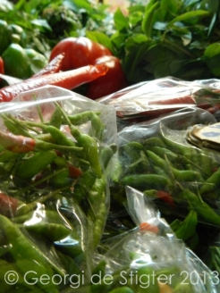 Red, green, big or small here there were chillies galore