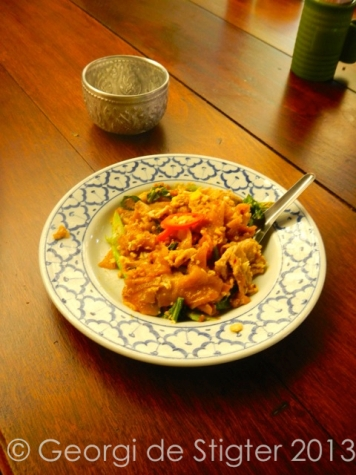Pad Siew, a popular Thai noodle dish