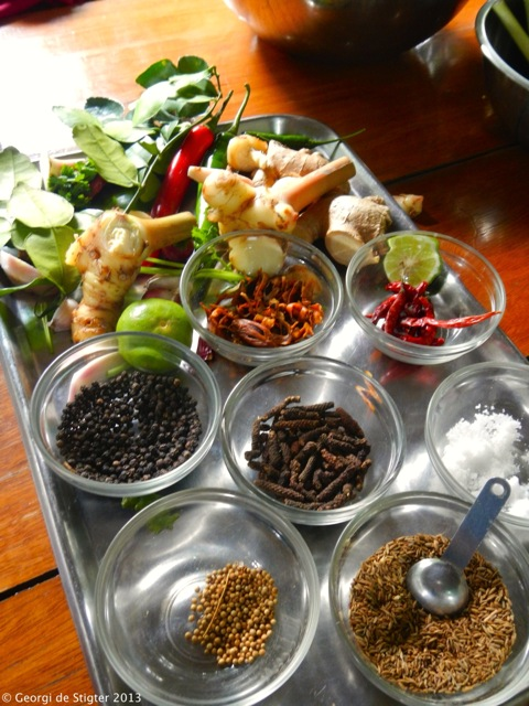 Thai Curry Paste - the core ingredients.