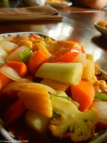 The tangy and colourful sweet and sour Vegetables