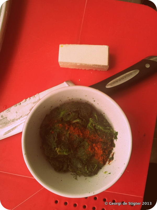 Spinach and Feta Mixture