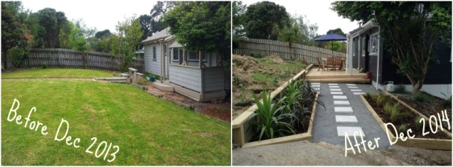 Before and After House shots