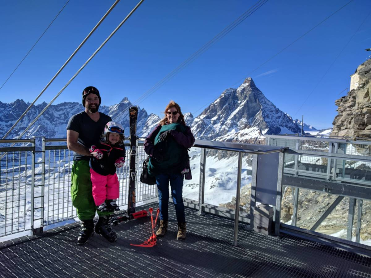 Tiny quarters and big ski progress in Cervinia